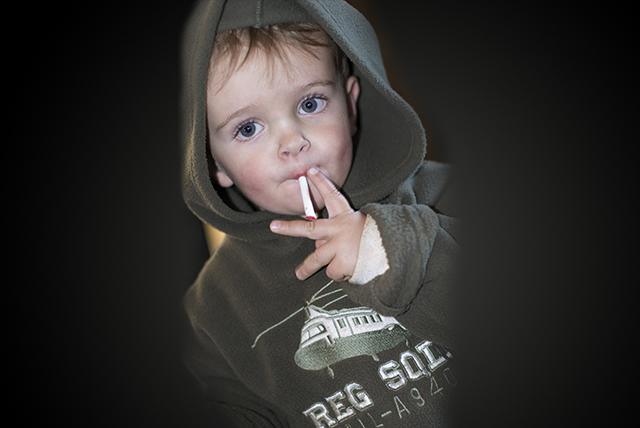 Parents in this Portuguese village encourage children to smoke cigarette